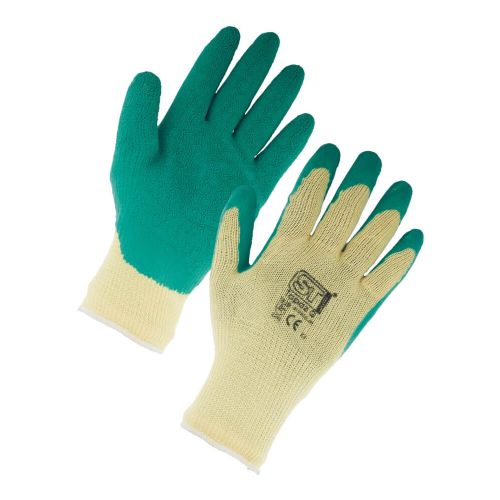 Supertouch Green Topaz Grip Gloves - 120 Pairs